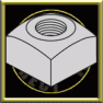 Heavy Square Nut Plain