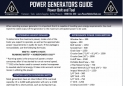 Power Generators Selection Considerations