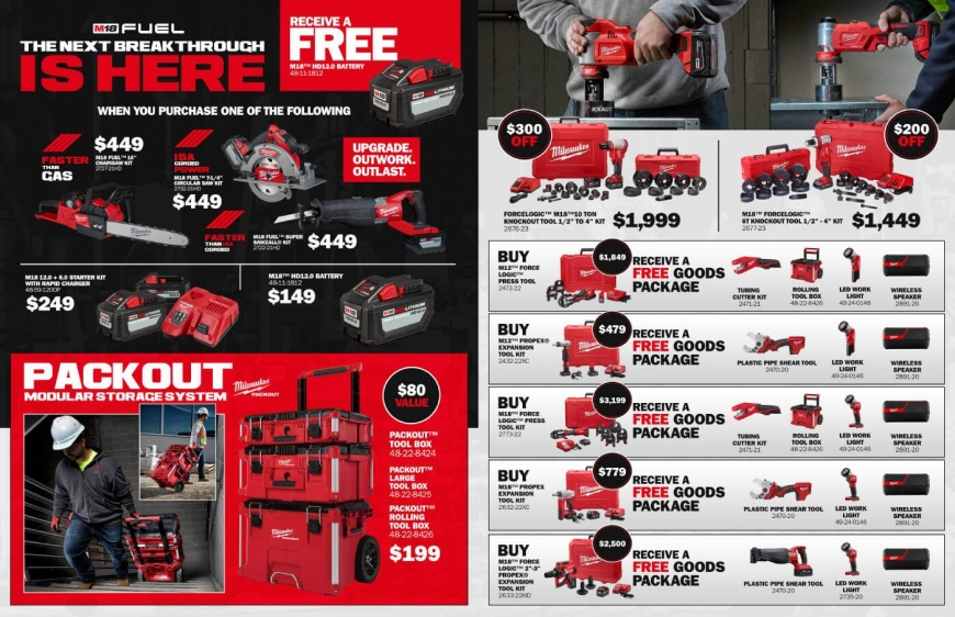 Milwaukee Special Promotions | Power Bolt and Tool